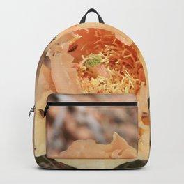 Peach Cactus Flower Backpack