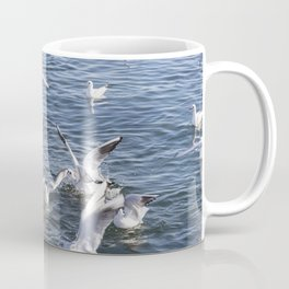 seagull flying at sea Coffee Mug