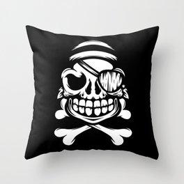 Jolly Pirate Throw Pillow