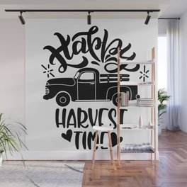 Happy Harvest Time Thanksgiving Wall Mural