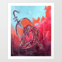Scorpio   Yoga Art Art Print