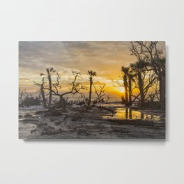 Dawn Silhouettes 06 Metal Print