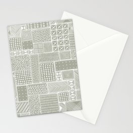 African Sand Tribal Mud Cloth Stationery Cards
