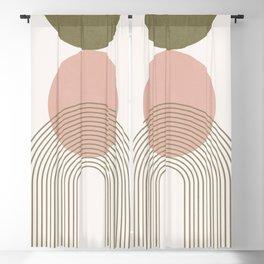 Minimal Geometric Shapes 141 Blackout Curtain