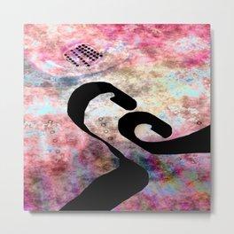Black Hole Line Metal Print