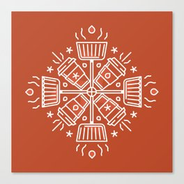 Shovelflake 5: Hot Cocoa Canvas Print
