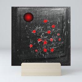 Red star Mini Art Print