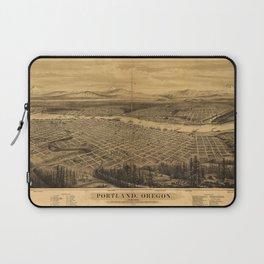 Aerial View of Portland, Oregon (1879) Laptop Sleeve