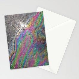 Oil spill pattern Stationery Cards