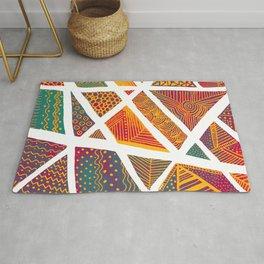 Geometric doodle pattern - multicolor Rug