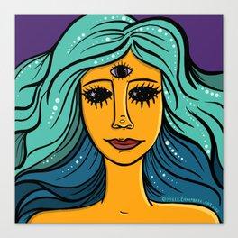 She Woke Canvas Print
