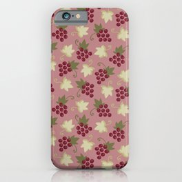 Sweet Grapevine on Old Pink iPhone Case