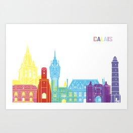 Calais skyline pop Art Print