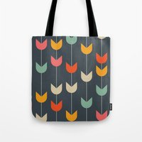 tulips Tote Bags featuring Tulips by Tracie Andrews