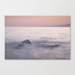 Serenity Sea. Orange Sunset Canvas Print