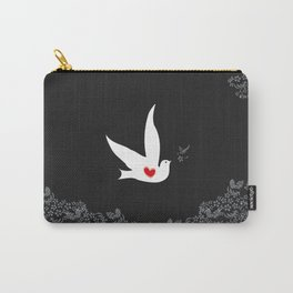 Love and Freedom - Black and Red Carry-All Pouch