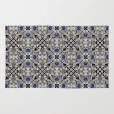 Gothic Cross Arrow and Diamond Tile Pattern Rug