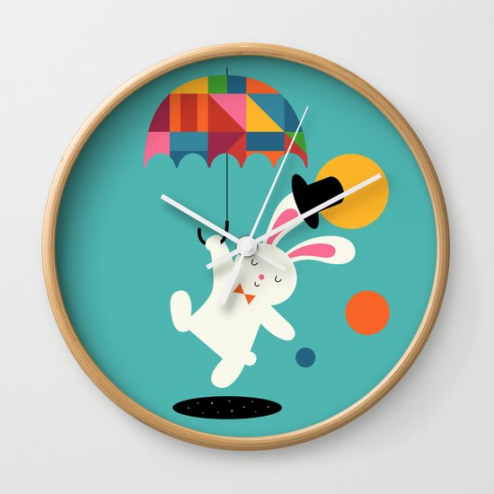 On the way to wonderland Wall Clock