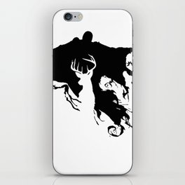 Deer patronus and deatheater iPhone Skin