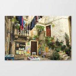 Trogir Washing  Canvas Print