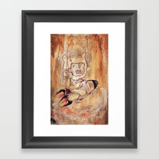 Bunny Rocket Framed Art Print