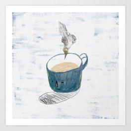 Blue mug Art Print