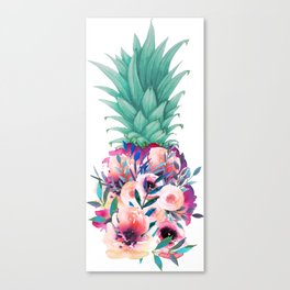 Floral pineapple Canvas Print