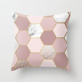 Sensations of the mind rose gold Throw Pillow