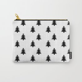 Black and White Christmas Trees Carry-All Pouch
