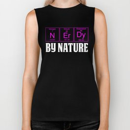 WOMENS Teachers Assistant Design NERDY BY NATURE Biker Tank