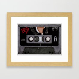 Bad-The Tape Framed Art Print