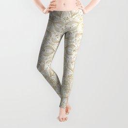 Boho Chic gold mandala design Leggings