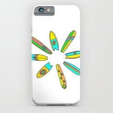 Retro Surfboard Flower Power iPhone 6s Slim Case