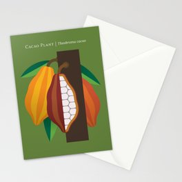Cacao Plant Stationery Cards