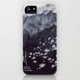 Light of the World, City on a Hill - Matthew 5:14 iPhone Case