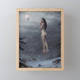 Full moon dinner Framed Mini Art Print