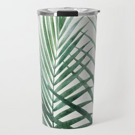 Emerald Palm Fronds Watercolor Travel Mug