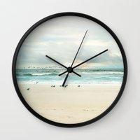 flight Wall Clocks featuring flight by Sylvia Cook Photography