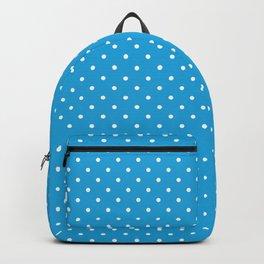 Mini White Polkadots on Oktoberfest Bavarian Blue Backpack