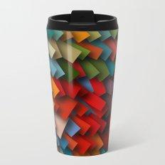 colorful rectangles with shadows Metal Travel Mug