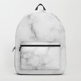 The Perfect Classic White with Grey Veins Marble Backpack
