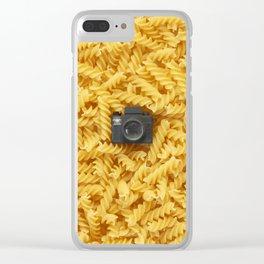 Pasta & Tiny Tiny Camera Clear iPhone Case