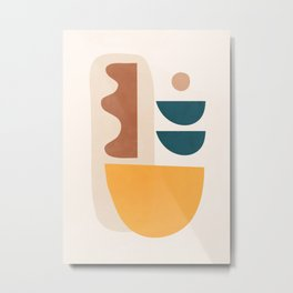 Abstract Minimal Shapes 35 Metal Print