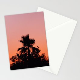 Palm Trees on Purple Stationery Cards