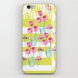 Tulips with yellow stripes iPhone Skin
