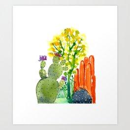 Cactus garden 3 Art Print