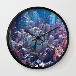 La ville en technicolor Wall Clock