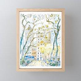 Bryant Park Framed Mini Art Print