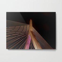 Cable Glow Metal Print