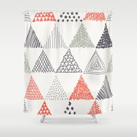 triangle Shower Curtains featuring Triangle by samedia
